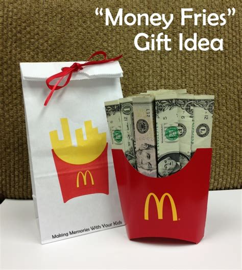 gift ideas for money fries the money gift idea