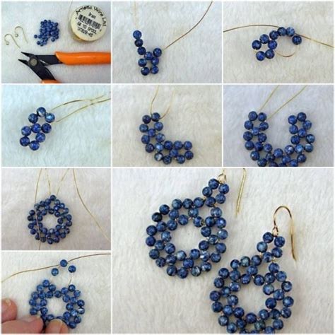 how to make jewelry earrings how to make gold wire or pearl jewelry earrings step