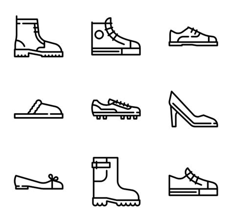 shoebox crafts for shoes icons 685 free vector icons
