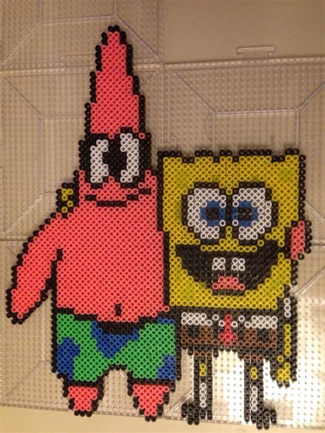 spongebob perler 17 best images about perlers spongebob on