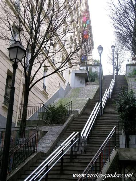 les escaliers de la butte autrement