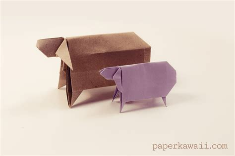 origami sheep origami sheep for new year paper kawaii