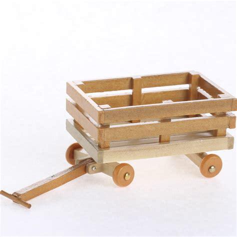 miniature woodworking miniature wood wagon garden miniatures dollhouse