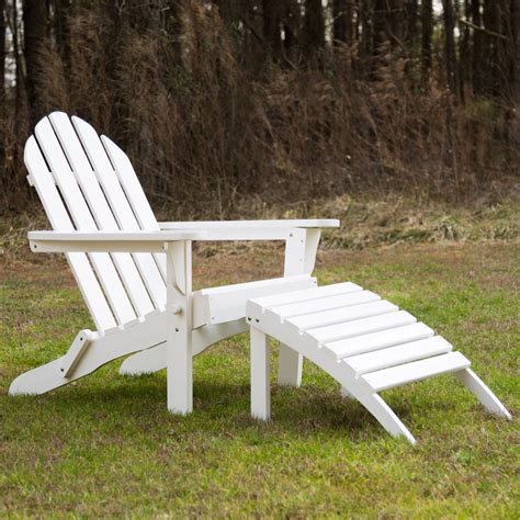 adirondack chair and ottoman exclusive folding wood adirondack chair and ottoman combo