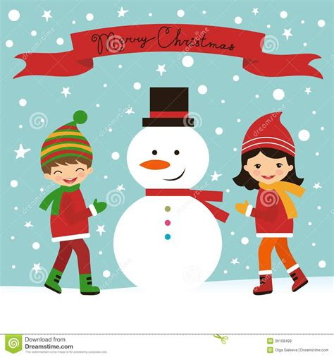 cards with toddlers card with and snowman royalty free stock