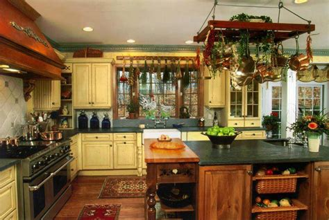 a country kitchen design for small room artistic decoration cuisine a l ancienne