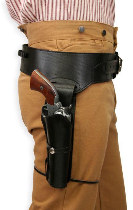 leather gun belt and holster 44 45 cal western gun belt and holster rh draw plain black leather