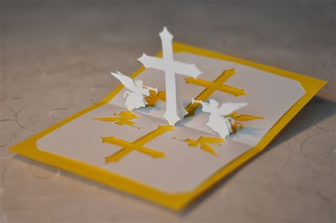 how to make a pop up card christian cross pop up card template