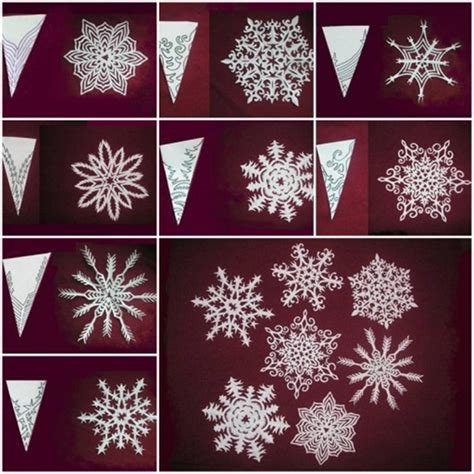 paper snowflake crafts wonderful diy paper snowflakes with pattern