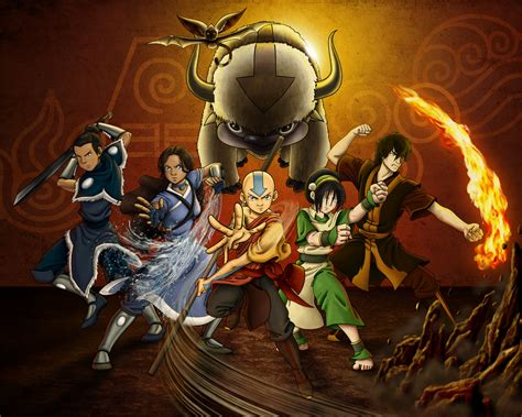 avatar the last airbender gaang by allagea avatar the last airbender wallpaper