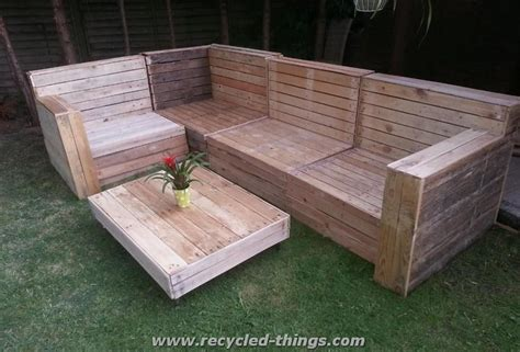 outdoor furniture made out of pallets patio furniture from pallet wood recycled things