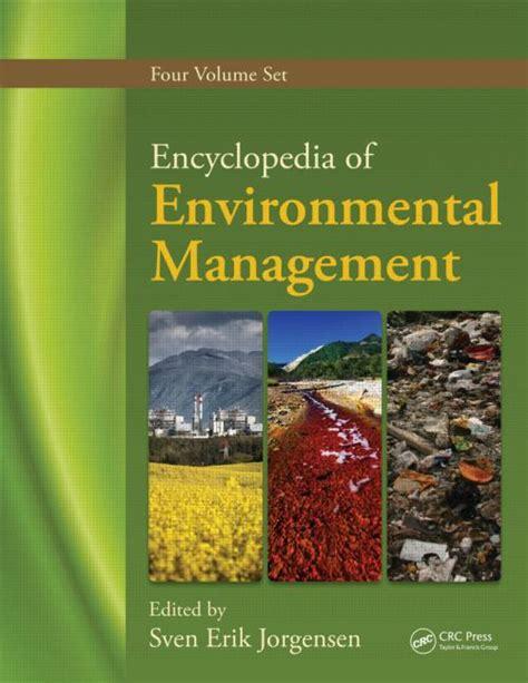 environmental picture books encyclopedia of environmental management four volume set