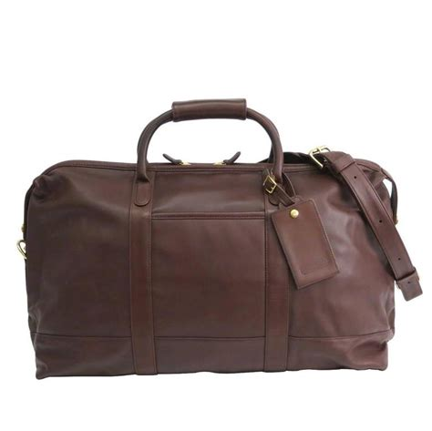 leather duffle bag mens coach vintage brown leather s carryall travel duffle