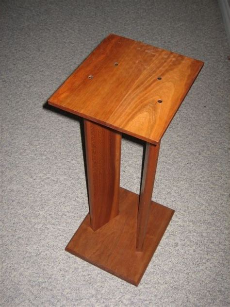 woodworking stand woodwork wooden speaker stands plans pdf plans