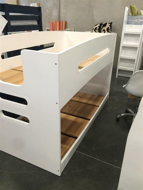 single and bunk bed single bunk bed lowline new design white goingbunks biz