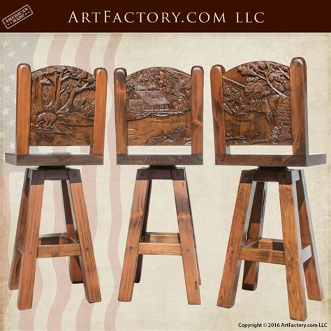 Custom Wood Bar Stools by Dining Chairs Stools And Benches Carved Solid Wood