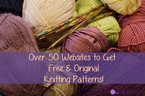 50 Websites To Get Free Knitting Patterns Sakeenah