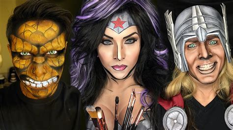turn your picture into a comic book character ka pow makeup artist transforms into comic book