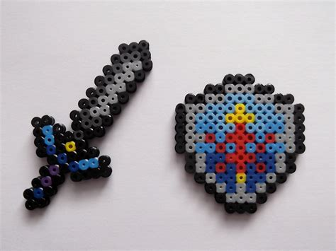bead master master sword and hylian shield legend of perler