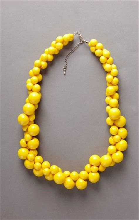 yellow beaded necklace yellow necklace bead necklaces and yellow on