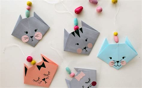 simple crafts how to make an easy origami cat crafts
