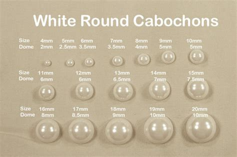 how big is 4mm bead white acrylic faux cabochons flatback pearl style
