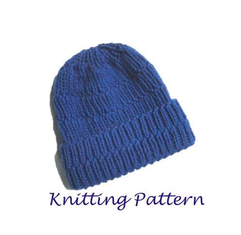 chunky knit beanie hat pattern chunky ribbed hat pdf knitting pattern easy knit beanie hat