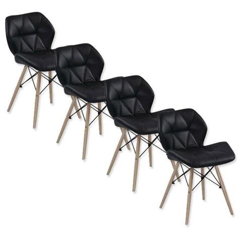 chaise salle a manger pas cher lot de 6 4 lot de 4 chaises design ophir noir achatvente
