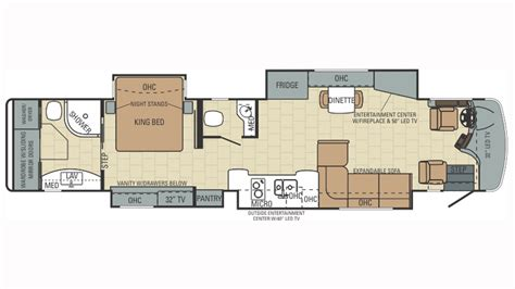 type b motorhome floor plans 2015 entegra coach anthem 44b class a motorhome