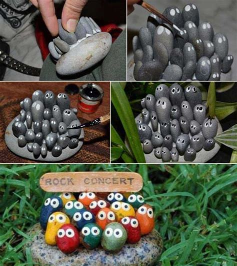 rock craft projects 34 easy and cheap diy projects to dress up your garden