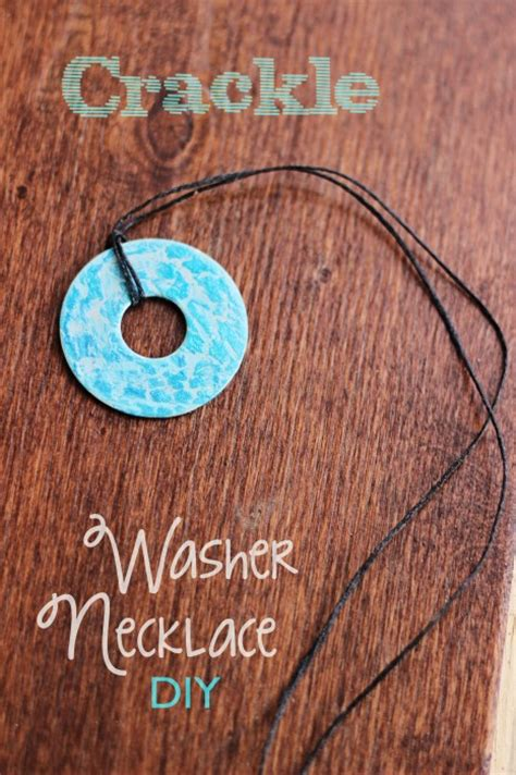 how to make jewelry to sell crackle washer necklace diy sweet t makes three