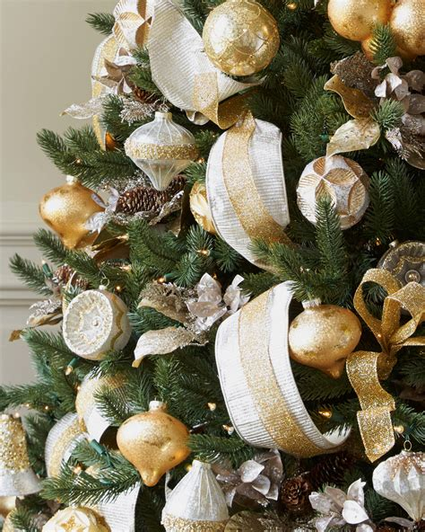tree decorations and gold silver and gold tree tree decorating