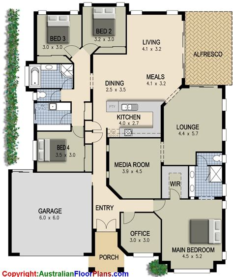 simple four bedroom house plans 4 bedroom plus office house plans design ideas 2017 2018