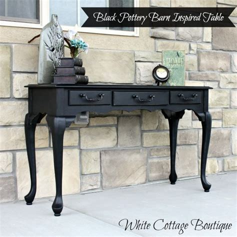 pottery barn sofa tables black pottery barn inspired sofa table white cottage
