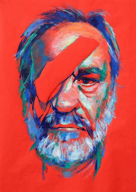 acrylic painting portrait portrait acrylic