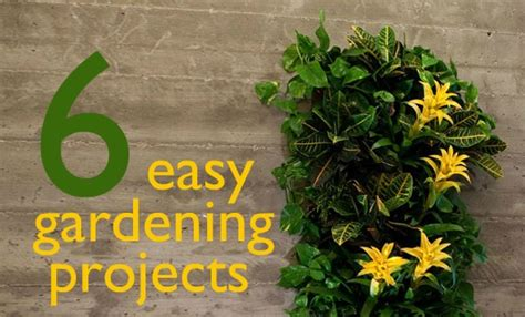 easy gardening ideas 6 easy gardening projects to do this weekend 6 easy