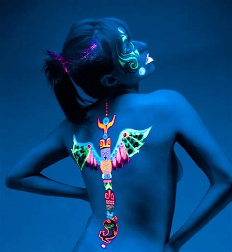 glow in the paint without uv light 98 glowing black light tattoos add intensity to your ink