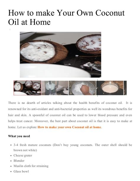 for to make at home how to make coconut at home coconut