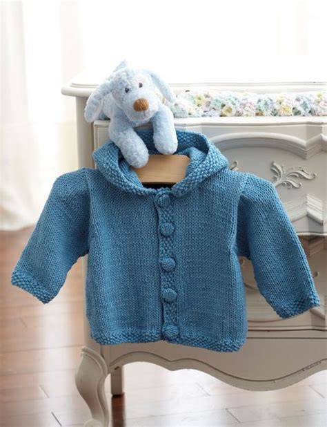 free baby hoodie knitting pattern knit hoodie in bernat handicrafter cotton solids