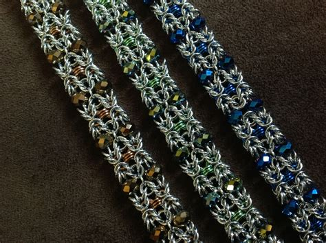 beaded chainmaille jewelry patterns beaded maille bracelets and anklets theringlord forum