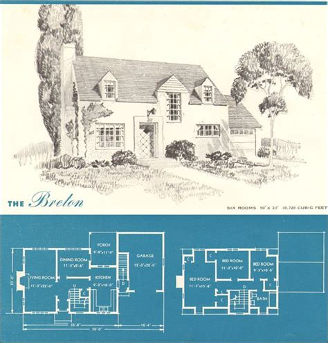 era house plans 1945 new era homes the breton home cottages home and