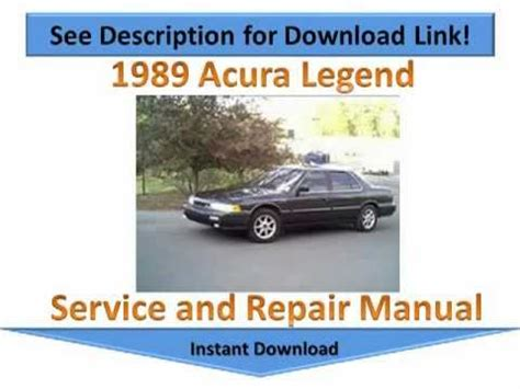 car engine repair manual 1989 acura legend instrument cluster 1989 acura legend repair manual youtube