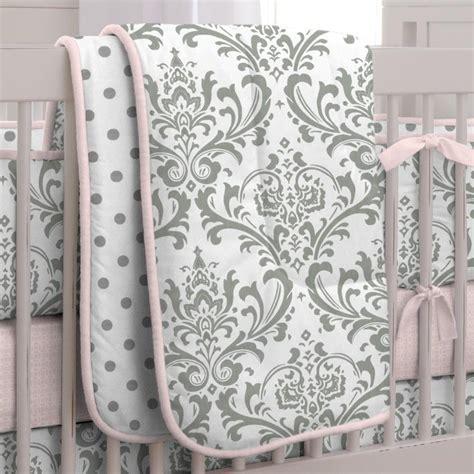 crib bedding sets pink and gray pink and gray traditions 3 crib bedding set