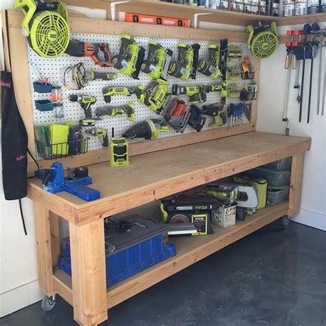 garage bench designs 1000 ideas about garage workbench plans on