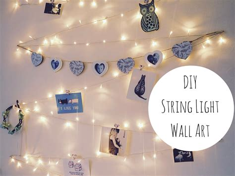 wall string lights diy string light wall decoration
