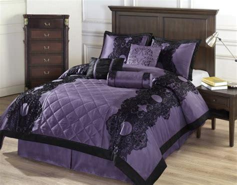 purple comforter sets size 7pc size comforter set purple black
