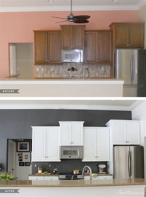 before and after kitchen cabinets paint house mix