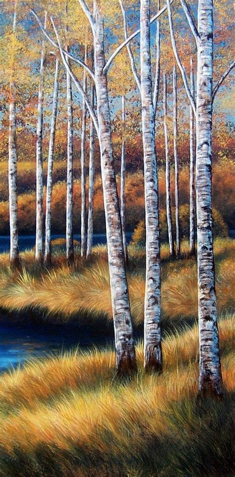 bob ross painting birch trees acrylics awesome and original paintings on