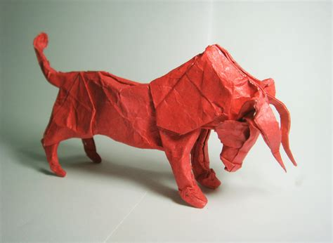 origami bull undiscovered folding and papercraft by mouselemur on