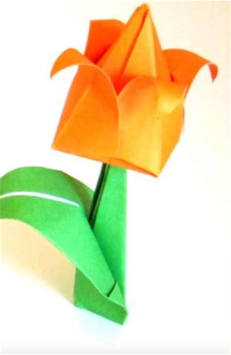 orange origami paper orange origami tulip allfreepapercrafts